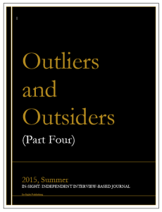 In-Sight Issue 8.A-8.B, Idea - Outliers and Outsiders (Part Four)