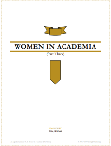 Issue 4.A, Idea - Women in Academia (Part Three)