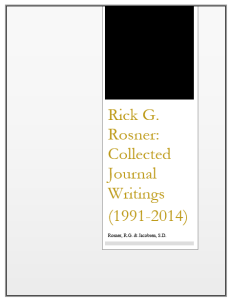 Rick G. Rosner - Collected Journal Writings (1991-2014)